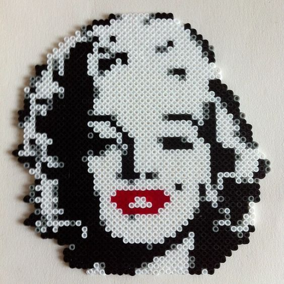 Marilyn Monroe hama mini beads by buryyourhead: