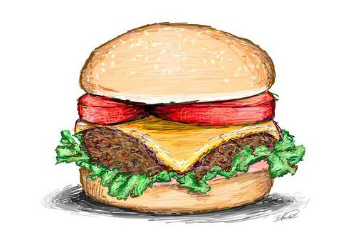 hamburger drawing - Google Search