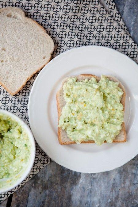 Eiersalat mit Avocado - ohne Mayo
