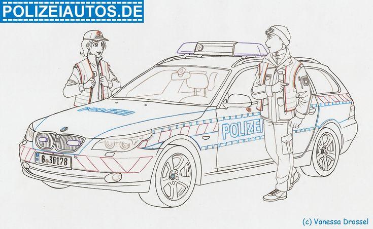 ausmalbild polizei 01  kostenlose malvorlagen ausmalen