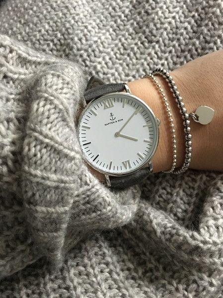 Armreife - Kugelarmband Silber Edelstahl mit Herz - ein Designerstück von Rogarii bei DaWanda