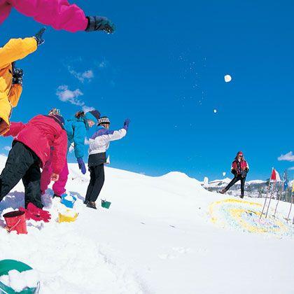 Snowball-Throwing Contest (Outdoor Winter Games for Kids)   Winter Fun & Games   FamilyFun