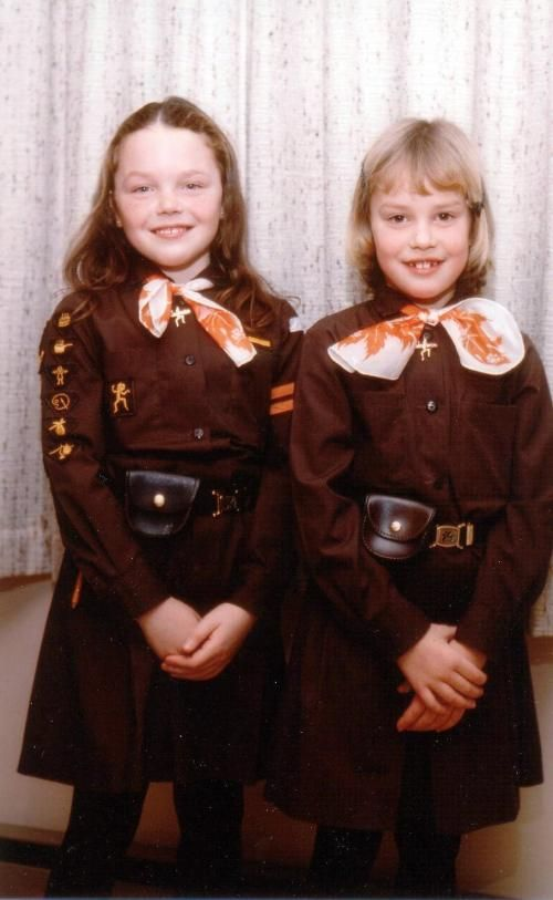 This is just what my brownie uniform looked like circa 1979-1980