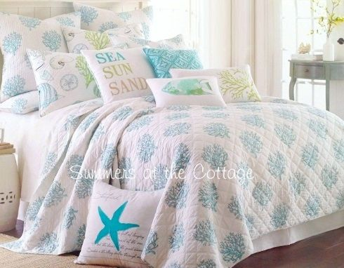 Turn your bedroom into a beach oasis where summer last forever with these Beach Bedding Collections: http://beachblissliving.com/beach-bedding-collections/