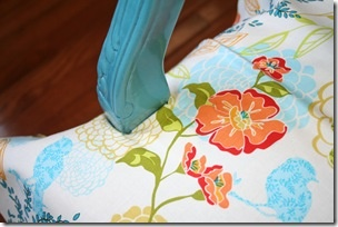 How to do the arm part of a chair when you reupholster