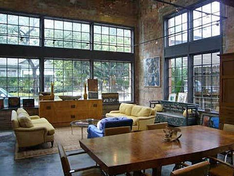 warehouse loft living. YES PLEASE!   I can't ever get enough windows and natural light. AWESOME