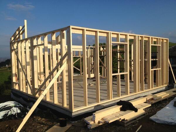 Estructura casa de madera en luarca asturias efitech - Estructura casa madera ...