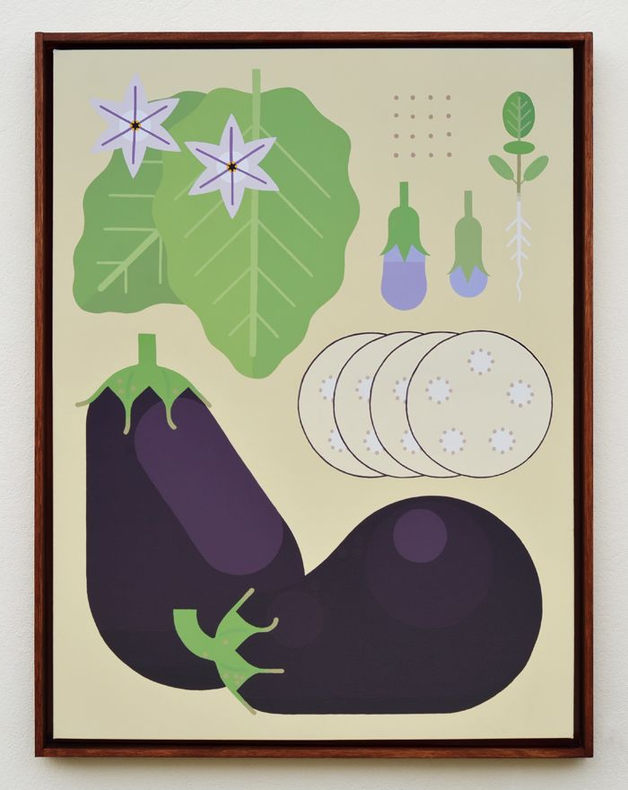 """Aubergine Lifecycle"" Acrylics on canvas, 2014 #lifecycle #vegetable #eggplant #plants #amokisland"