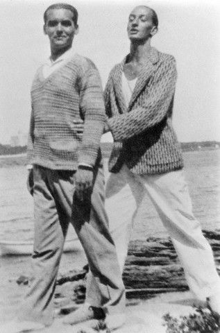 Federico García Lorca and Salvador Dalí, Figueras (Spain) 1920s -nd    [Writer Federico García Lorca and painter Salvador Dalí, became friends when they were students together in Madrid]