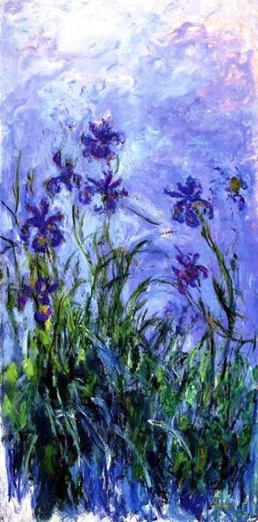 -Claude Monet - Lilac Irises, 1914-17