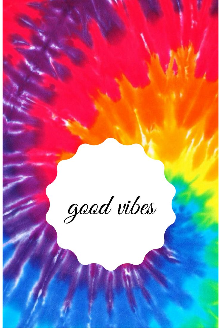 good vibes wallpaper- made with canva tie dye hippy wallpaper for iphone