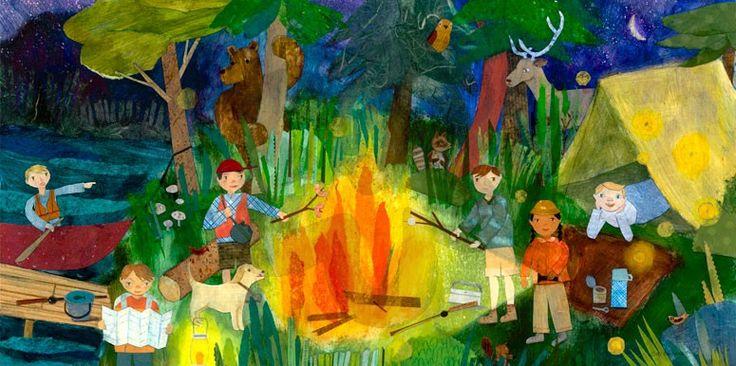 Campfire Kids - Nature Canvas Wall Art | Oopsy daisy