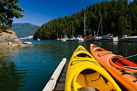 Every summer we have a kayak race around Bowen Island. Lots of fun for the family.
