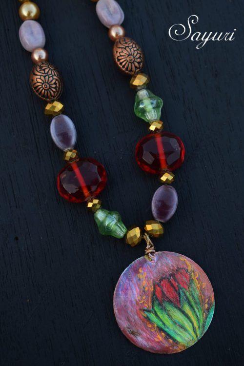 DEC ABS Beaded Tulip Necklace | Jewels of sayuri
