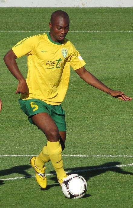 I- Icons Serge Akakpo - a famous football (soccer) player from Togo.