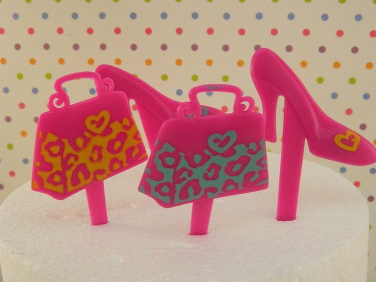 Fashion High Heel Shoe & Purse Cupcake Picks