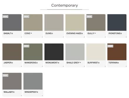 Image result for colorbond roof colours