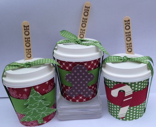 Christmas treats - mini coffee cups - cup pattern