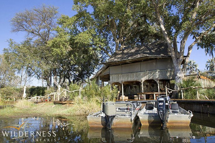 Jacana Camp - A true water camp on a remote island in the Okavango Delta  #Africa #Safari #Botswana