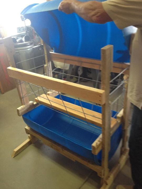 Low waste goat feeder More