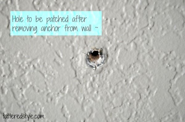 How To Repair A Hole After Removing A Drywall Anchor For