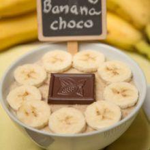Banánovo-čokoládová a jablkovo-škoricová ovsená kaša