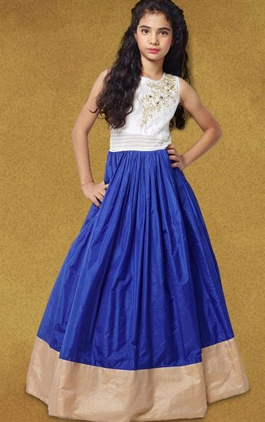 Picture of Attractive Blue Kids Designer Gown