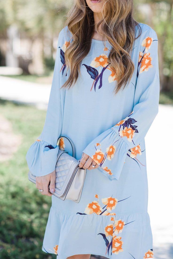 Merrick's Art Light Blue Floral Dress