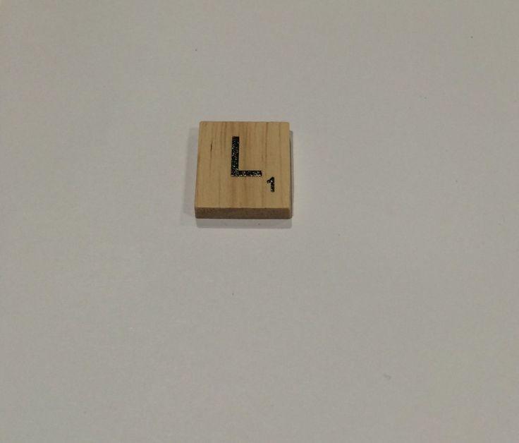 "ONE TILE LETTER ""L"" - wooden Scrabble Tiles letters - Magnets Pendants Craft by ElvesNFairies on Etsy"