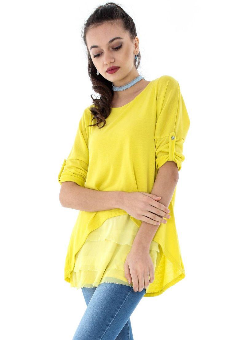 Bluza eleganta, ROH, cu volane-BR1695