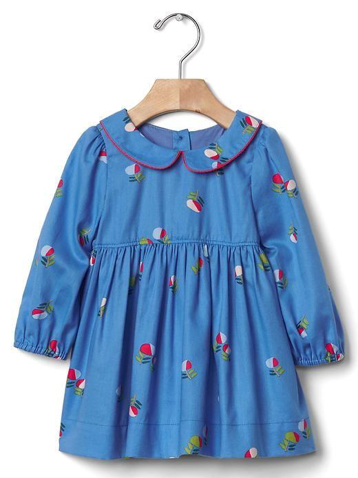 Little flowers collar dress