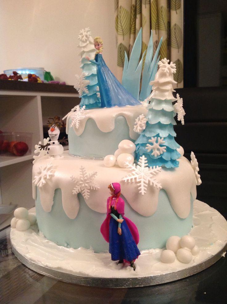Nearly finished frozen cake