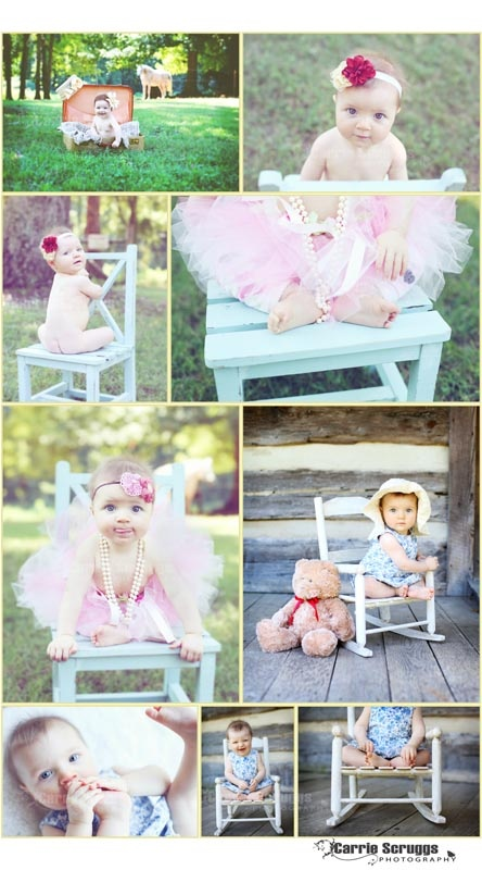 Carrie Scruggs Photography -- When we paint the little rocker we will need to take photos like the ones in the bottom right.