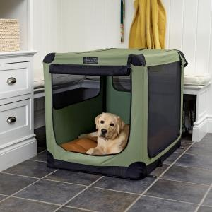 Collapsible travel crate.  I have one of these for my cats. My vet thinks it's so fancy.