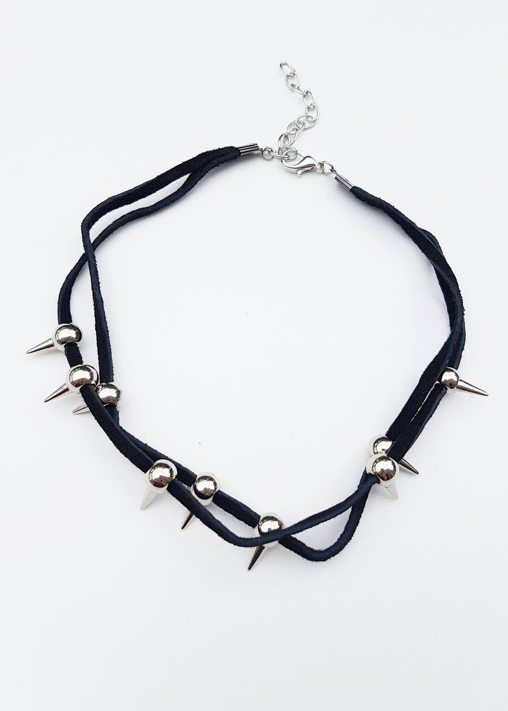 ON THE EDGE SUEDE CHOKER