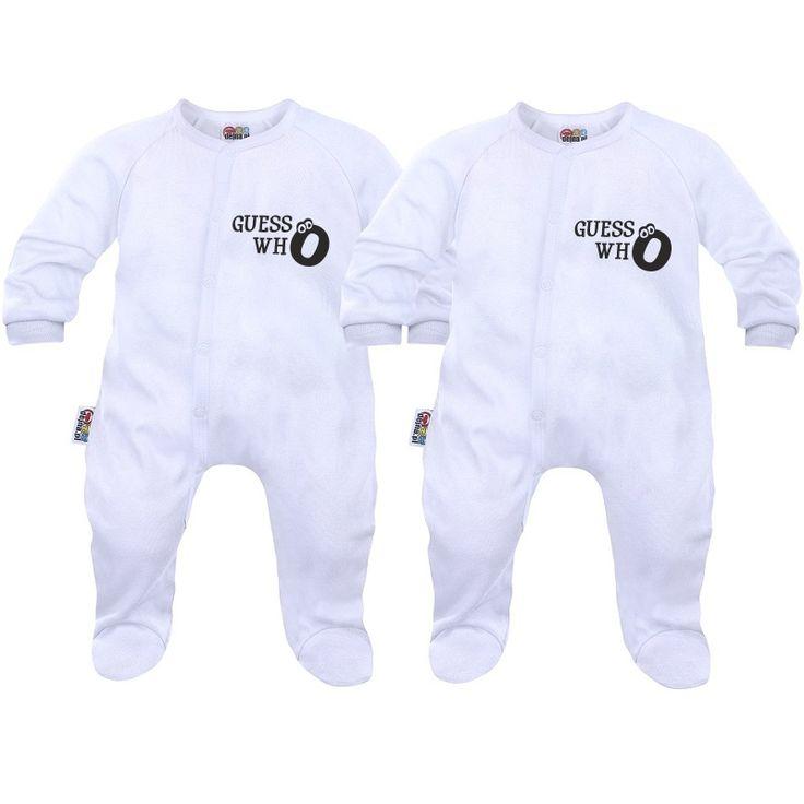 Deux pyjamas bébé jumeaux : guess who - Pyjamas bébé - SiMedio