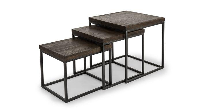 Taiga Smoke Nesting Tables
