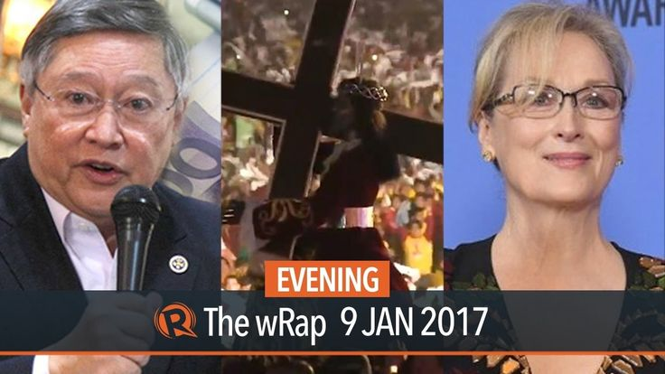 Income tax reform, Black Nazarene, Meryl Streep | Evening wRap - WATCH VIDEO HERE -> http://dutertenewstoday.com/income-tax-reform-black-nazarene-meryl-streep-evening-wrap/   Today on Rappler: – Former heads, deputy chiefs of DOF, NEDA support Duterte's tax reform program – Hundreds of thousands of Black Nazarene devotees join yearly procession – Duterte confirms Uson, new batch of government appointees, – LeniLeaks won't be...
