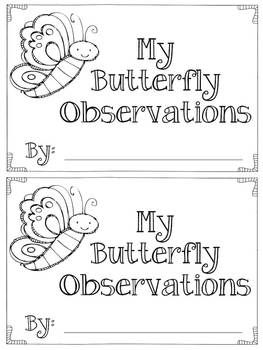 Butterfly Life Cycle Observation Booklet - FREEBIE-  TeachersPayTeachers.com