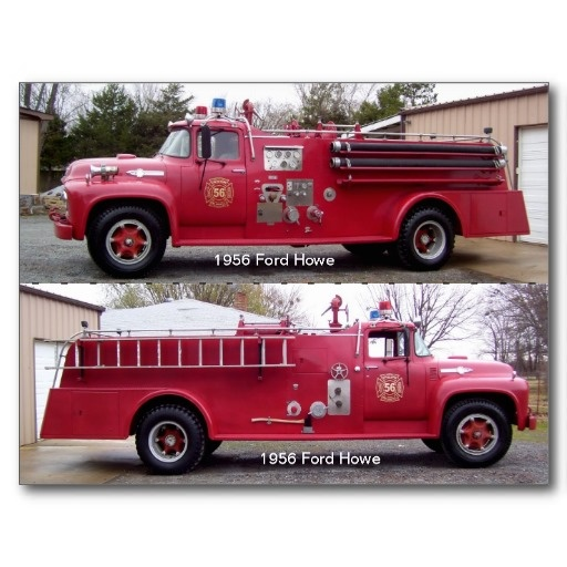 1956 Ford Fire Truck : Images about fire trucks old on pinterest