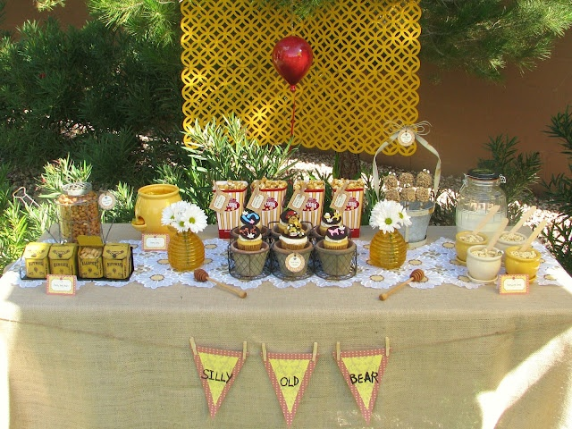 Lynlee's Petite Cakes: Silly Old Bear!: Desserts Table, Pooh Parties, Baby Shower Ideas, Birthday Parties, Bears Parties, Parties Ideas, Winnie The Pooh, Parties Theme, Shower Theme