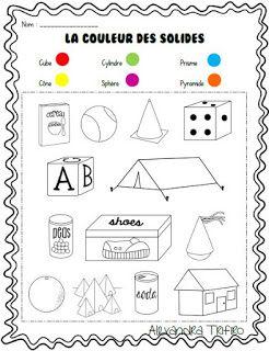 Exercice La couleur des solides | Numération ce1, Solide ...