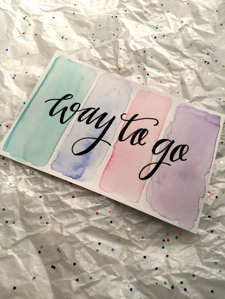 Way to Go card from Watershed Lettering - part of the Congratulations card pack