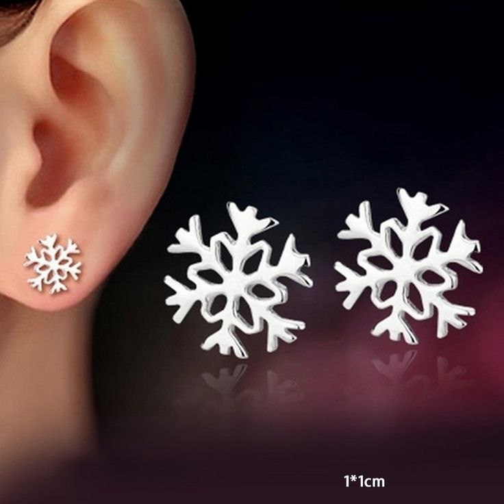 Christmas Classic Snow Earrings