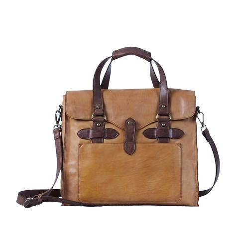 Truman Walkway Messenger - Cognac Dark Brown