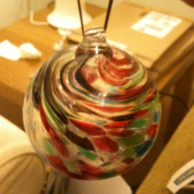 I blew my own Christmas bauble at Sunderland glass centre.