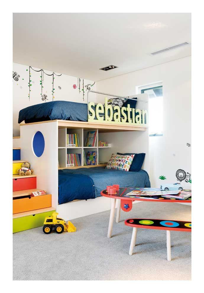 literas con separacion para estanterias y pasillo #color #nombre en barandilla