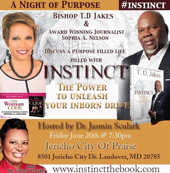 Join us Tomorrow at Jericho City of Praise #INSTINCT #Purpose Filled Life! http://www.jerichocop.org/