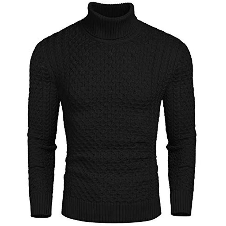 Coofandy Rollkragen Herren Strickpullover Pullover Slim Fit Winter Basic Sweater…