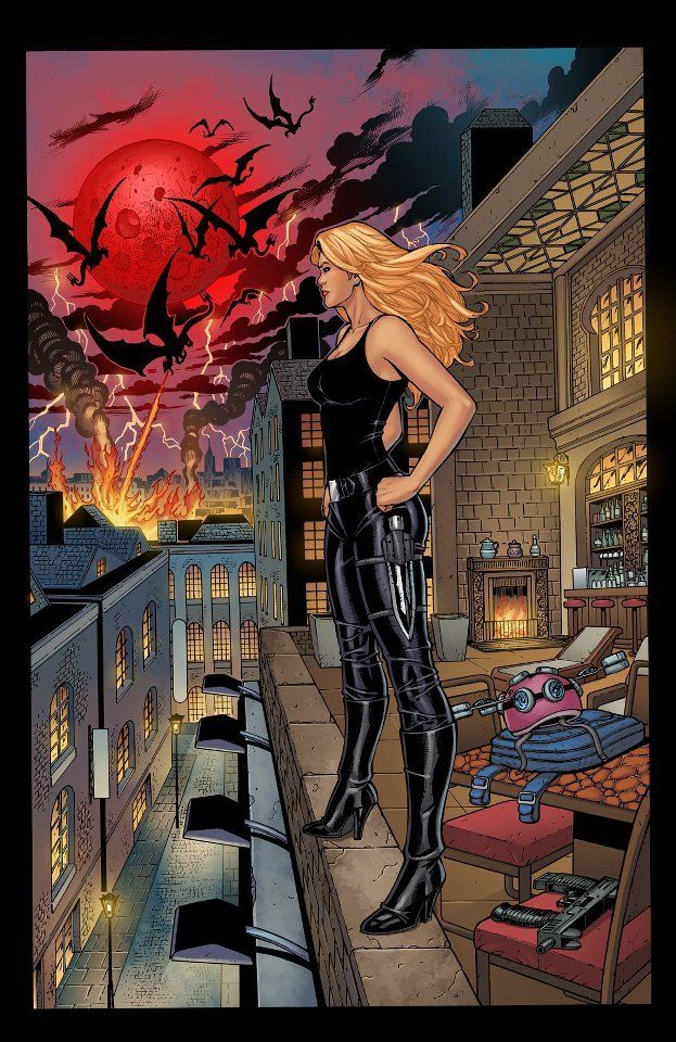 Mackayla Lane-  Fever Series. I like this picture because the heroine is a little more realistically proportioned then usually portrayed in the comic industry.
